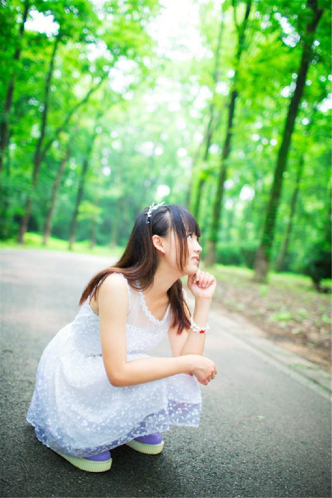校园清纯少女可爱美女小清新夏日迷人写真壁纸